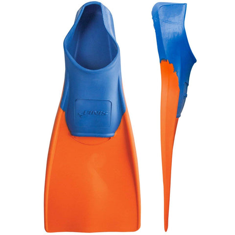 Finis Long Floating Fins, Junior Size 11-1 (Blue/Orange) - Prokicksports.com