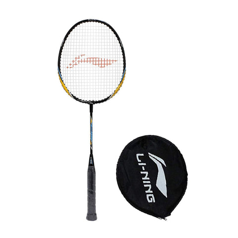 Li-Ning XP 800 Junior Badminton Racquet for Age 4 Yrs to 10 Yrs - Black/Orange (Half Cover) - Best Price online Prokicksports.com