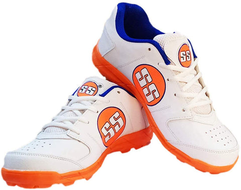 SS Spikes Cricket Shoes for Men - Josh -White-Orange - Best Price online Prokicksports.com