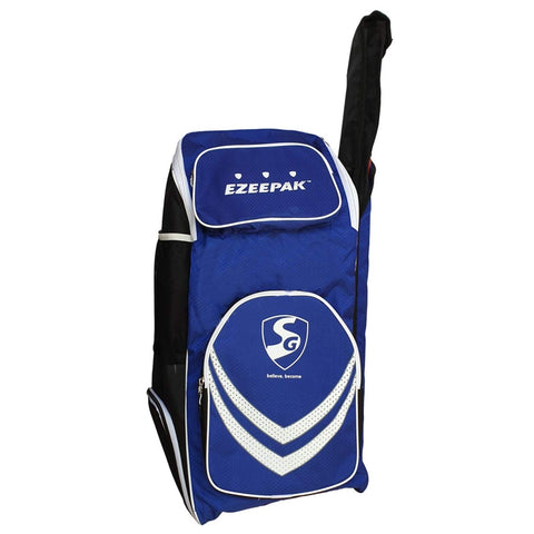 SG EzeePak Cricket Backpack style Kit bag - Royal Blue/Black/Lime - Prokicksports.com