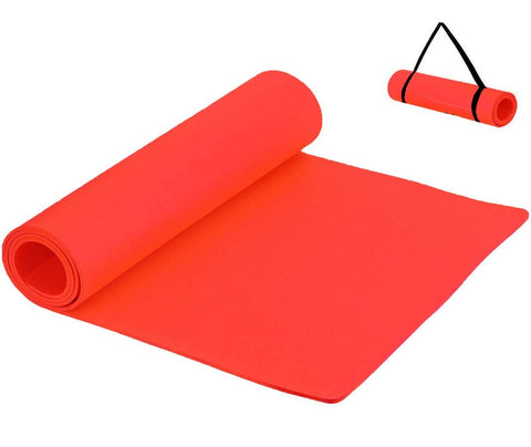Prokick Anti Skid EVA Yoga Mat for Men and Women - 4MM - Red - Best Price online Prokicksports.com