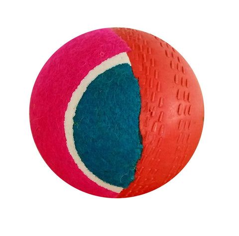 HRS Swing Cricket 2 in1 Half Tennis + Half Rubber Ball (Assorted Colors) - Prokicksports.com
