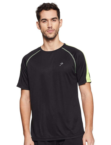 SG RTS2212 Polyester Round Neck Sports T-Shirt - Black - Best Price online Prokicksports.com