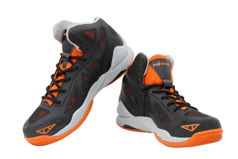 Nivia Typhoon Basketball Shoes, (Black/Orange) - Best Price online Prokicksports.com