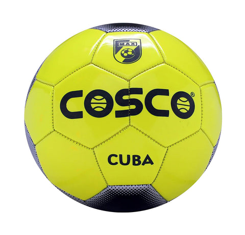 Cosco Cuba Foot Ball, Size 5 (Black/Yellow) - Best Price online Prokicksports.com