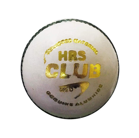HRS Club Cricket Leather Ball - White - Best Price online Prokicksports.com