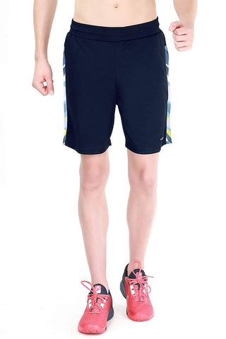Head HPS 1080 Polyester Tennis Shorts, Navy/Sky Blue - Best Price online Prokicksports.com