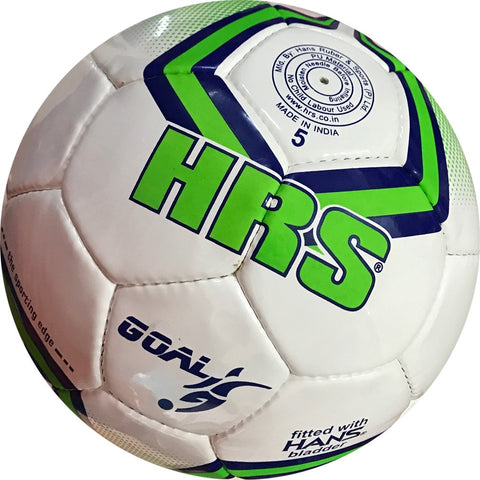 HRS Goal Imported PU Professional Match Football - Size 5 (Green/Blue) - Best Price online Prokicksports.com