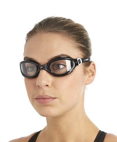 Speedo Unisex-Adult Futura Plus Goggles (Black/Clear) - Best Price online Prokicksports.com