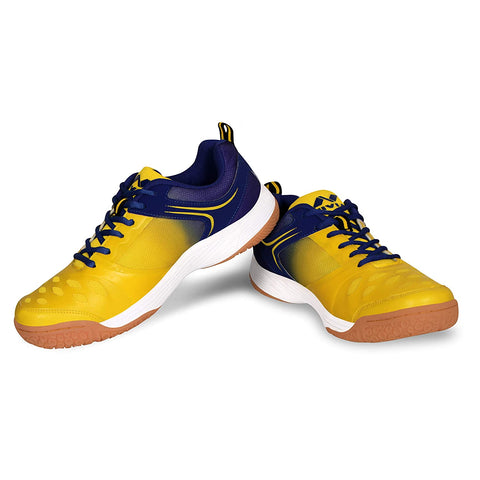 Nivia HY-Court 2.0 Badminton Shoes for Men, Yellow/Blue - Best Price online Prokicksports.com