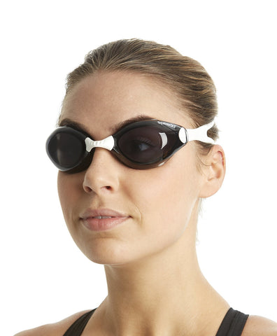 Speedo Unisex-Adult Aquapulse Goggles - White/Smoke - Prokicksports.com
