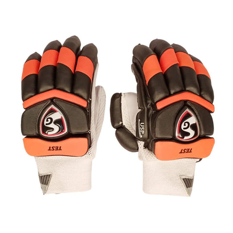 SG 2020 Edition Test Professional RH Batting Gloves - Orange/Black (Hyderabad) - Best Price online Prokicksports.com