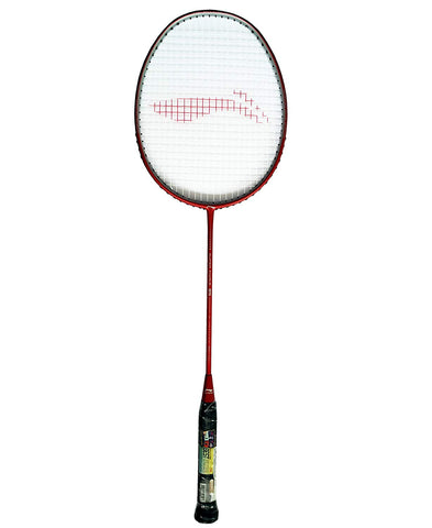 Li-Ning Super Force 85 Full Carbon Graphite Strung Badminton Racquet, S2 (Red/Silver) - Best Price online Prokicksports.com