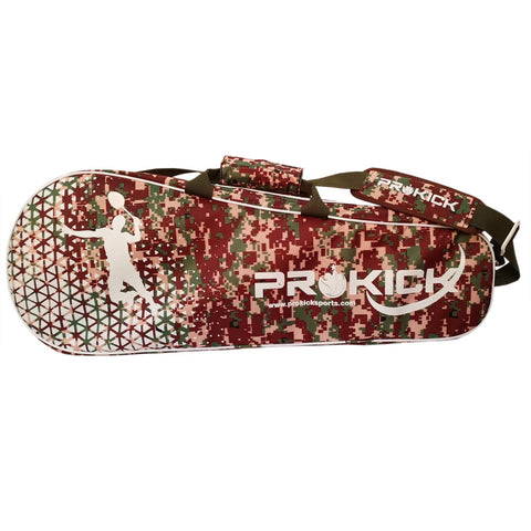 Prokick 2020 Camo Fusion Latest Edition Badminton Kitbag with Double Zipper Compartment - Brown Camo Fusion - Best Price online Prokicksports.com