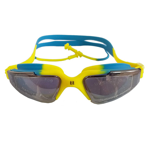 Konex CI-8311 Swimming Goggle, Yellow/Blue - Best Price online Prokicksports.com