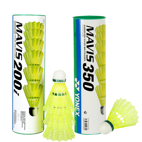 Yonex Mavis Shuttlecock Pack of 12 Combo (1 Can Mavis200i, Pack of 6 + 1 Can Mavis350, Pack of 6) - Best Price online Prokicksports.com