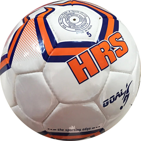 HRS Goal Imported PU Professional Match Football - Size 5 (Orange/Blue) - Best Price online Prokicksports.com