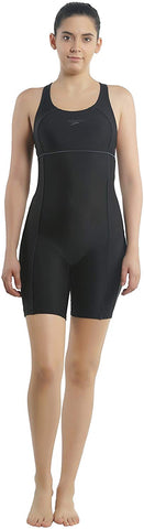 Speedo Female Swimwear Af Classic Legsuit (Black and Iron Grey) - Best Price online Prokicksports.com