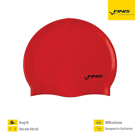 Silicone Swim Cap, One Size (Red) - Best Price online Prokicksports.com