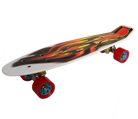 Prokick Beginners Skateboard, White Fire - Best Price online Prokicksports.com