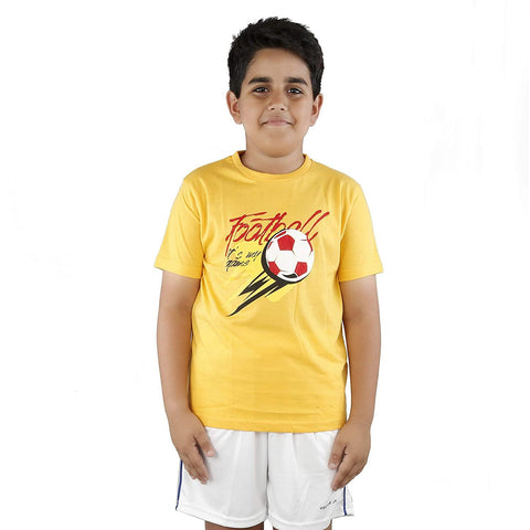 Vector X Cotton Kids T-shirt Yellow - Best Price online Prokicksports.com