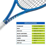 HEAD Spark Tour MX Graphite Tennis Racquet with Full Cover | Pre Strung, Size: 4/3-8 - Best Price online Prokicksports.com