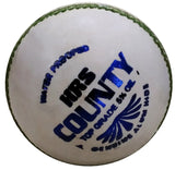 HRS County Cricket Leather Ball, White - Best Price online Prokicksports.com