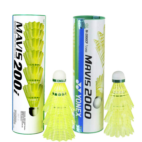 Yonex Mavis Shuttlecock Pack of 12 Combo (1 Can Mavis200i, Pack of 6 + 1 Can Mavis2000, Pack of 6) - Best Price online Prokicksports.com