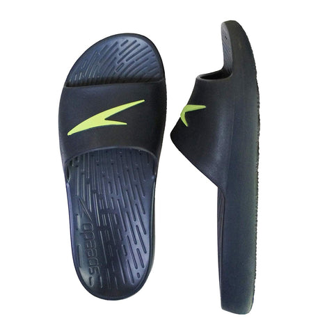 Speedo Extra-Light Water Resistant Swimming Junior Slippers - Unisex (Navy/Bright Zest) - Best Price online Prokicksports.com