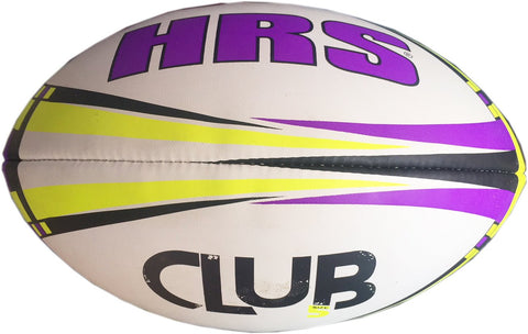 HRS Club Rugby Ball, Size-5, Purple Yellow - Prokicksports.com