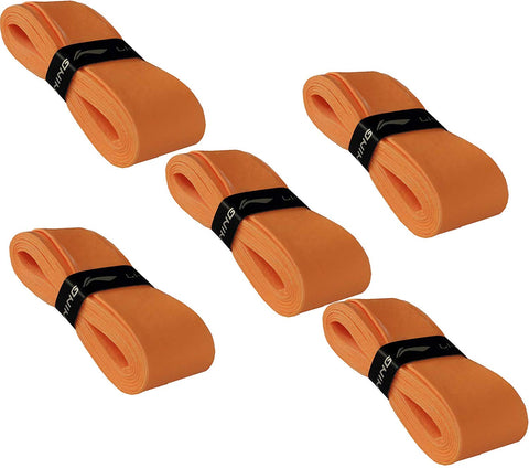 Li-Ning GP-21 Badminton Racquet Grip, Set of 5 - Orange - Best Price online Prokicksports.com
