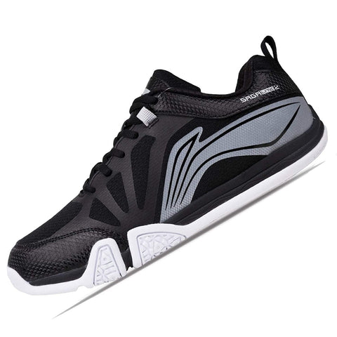 Li-Ning Saga Lite 2 Non Marking Badminton Shoes Black/White - Best Price online Prokicksports.com
