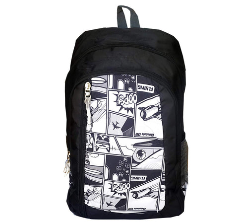 Prokick 30 Ltrs Lite Weight Waterproof Casual Backpack | School Bag, Black - Prokicksports.com