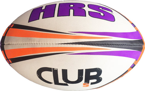 HRS Club Rugby Ball, Size-5, Purple Orange - Prokicksports.com