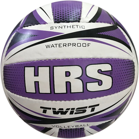 HRS Twist Synthetic Rubber Volleyball - Purple - Best Price online Prokicksports.com