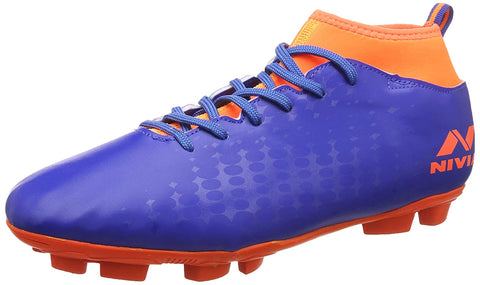 Nivia Ultra Football Studs, Blue/Orange - Best Price online Prokicksports.com