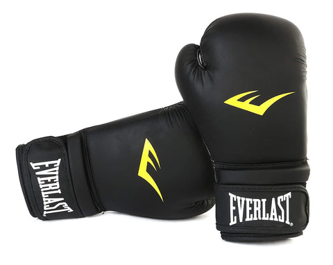 Everlast Matt Boxing Gloves with Injection Moulder - Black - Best Price online Prokicksports.com