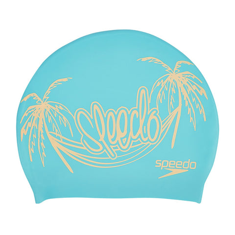Speedo Slogan Print Swimming Cap, Free Size (Blue/Orange) - Best Price online Prokicksports.com