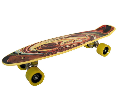 Prokick Beginners Skateboard, Yellow Maze - Best Price online Prokicksports.com