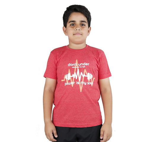 Vector X Cotton Kids T-shirt Red - Best Price online Prokicksports.com