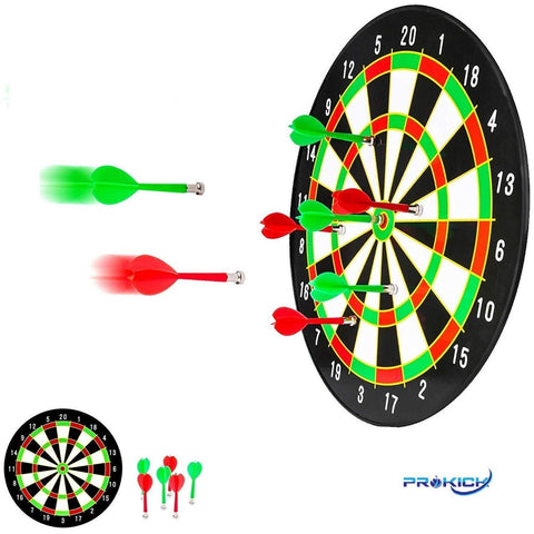 Prokick Double Sided Magnet Dart Board Game - with 6 Darts - Best Price online Prokicksports.com