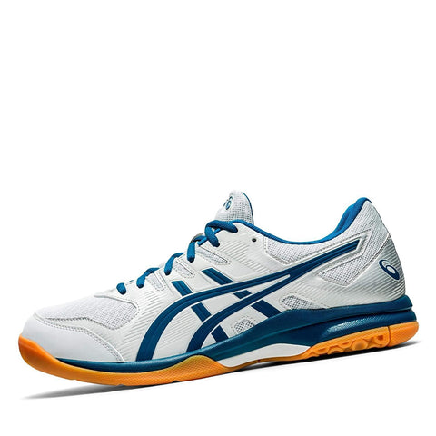 Asics Gel Rocket 9 Non Marking Badminton Shoes Glacier Grey/Mako Blue - Best Price online Prokicksports.com