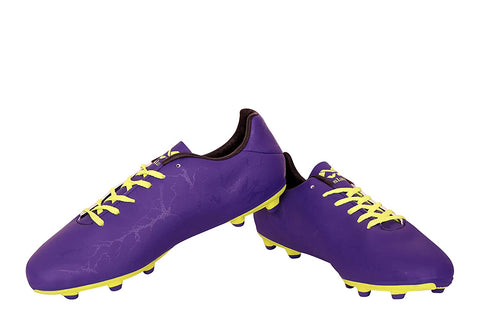 Nivia 327P Synthetic Oslar Football Stud, (Purple/F Green) - Best Price online Prokicksports.com