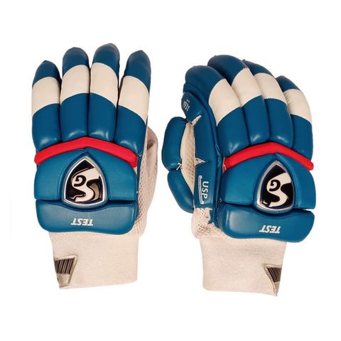SG 2020 Edition Test Professional RH Batting Gloves - Blue/White (Delhi) - Best Price online Prokicksports.com