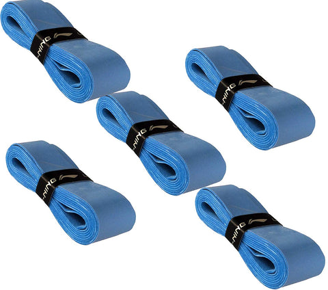 Li-Ning GP-21 Badminton Racquet Grip, Set of 5 - Blue - Best Price online Prokicksports.com