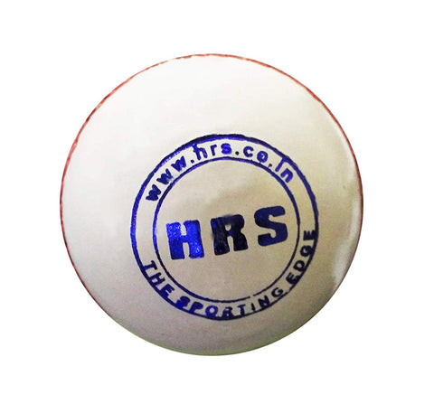 HRS World Cup Cricket Leather Ball, White - Best Price online Prokicksports.com