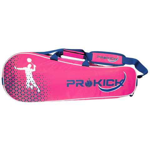 Prokick Badminton Kitbag with Double Zipper Compartments - Pink - Best Price online Prokicksports.com
