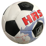 HRS Trainer Synthetic Rubber Football - (Black/White) Size 5 - Best Price online Prokicksports.com