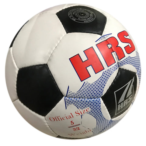 HRS Trainer Synthetic Rubber Football - (Black/White) Size 5 - Prokicksports.com