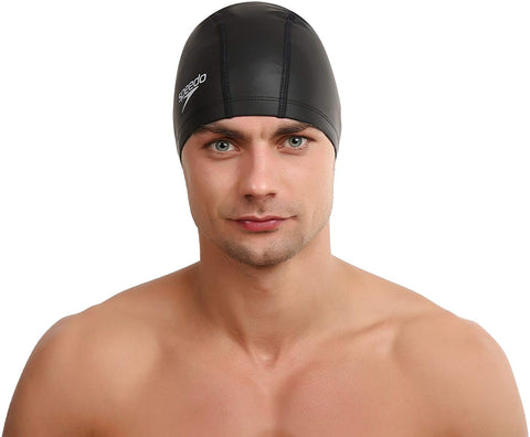 Speedo Unisex-Adult Pace Swimcap, Black - Best Price online Prokicksports.com